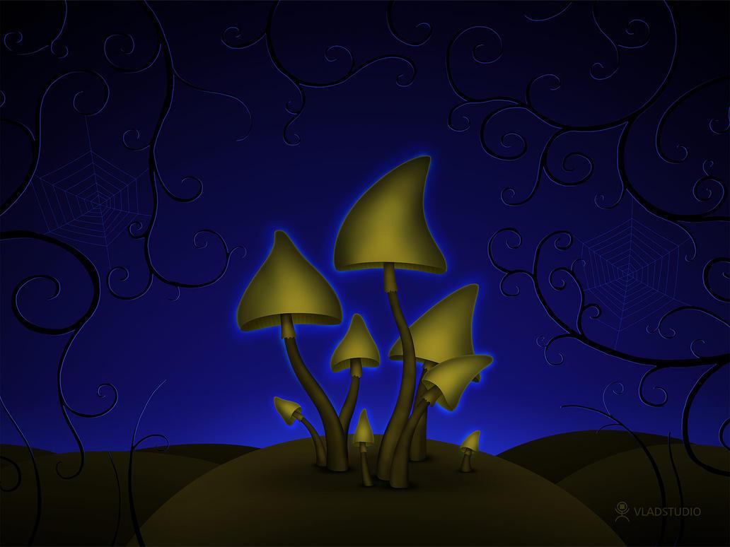 Mushrooms - Halloween Night by vladstudio