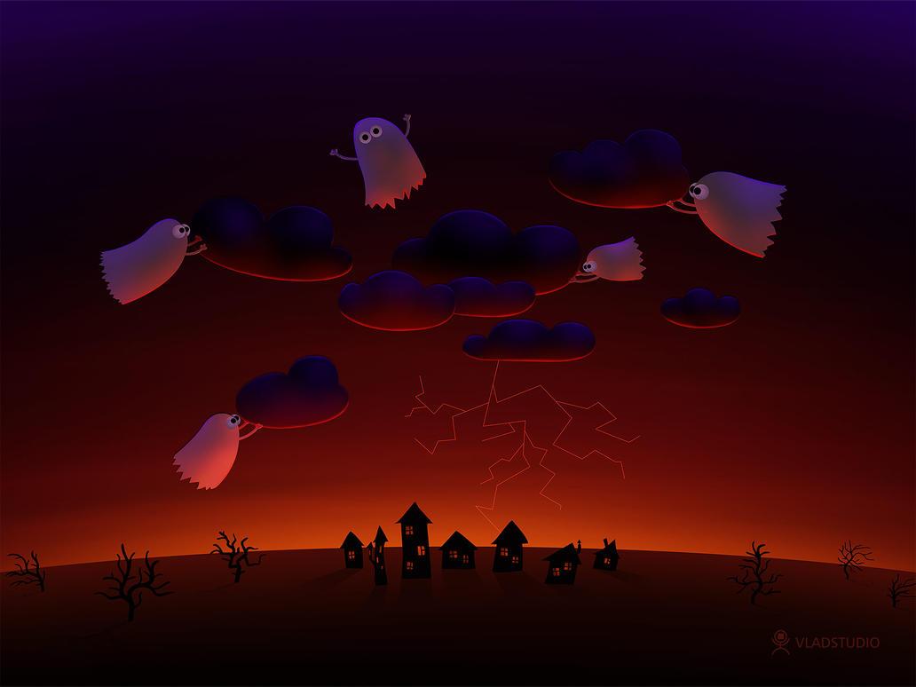 The Gathering Storm-Halloween by vladstudio