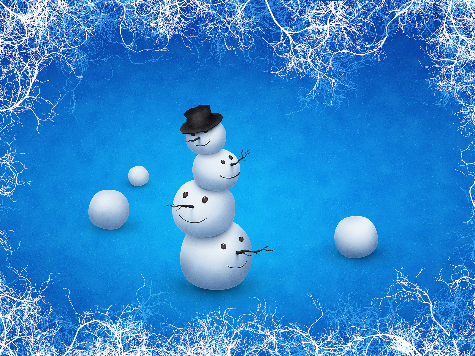 The Merry Snowman by vladstudio