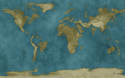 Flooded World Map