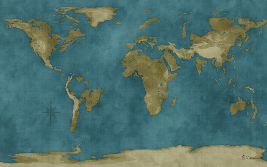 Flooded World Map By Vladstudio On DeviantArt - Flooded earth map