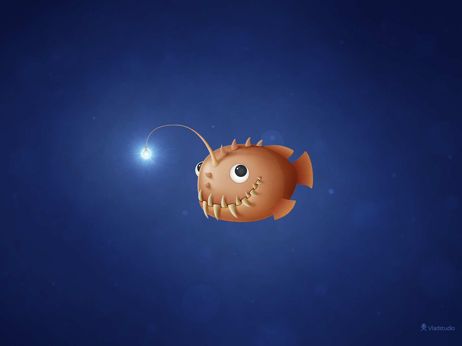 A Little Anglerfish by vladstudio