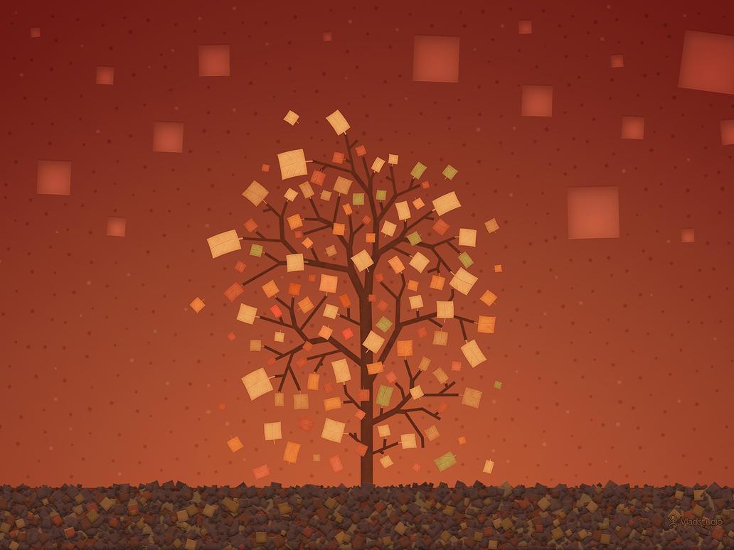 The Autumn Tree by vladstudio