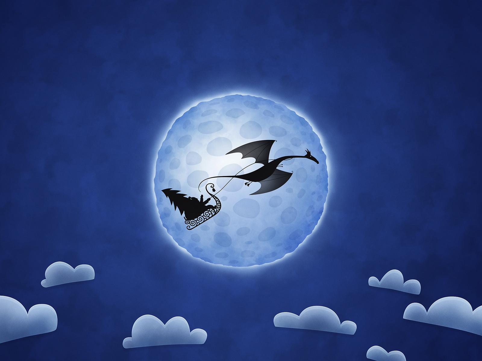 Christmas Dragon by vladstudio