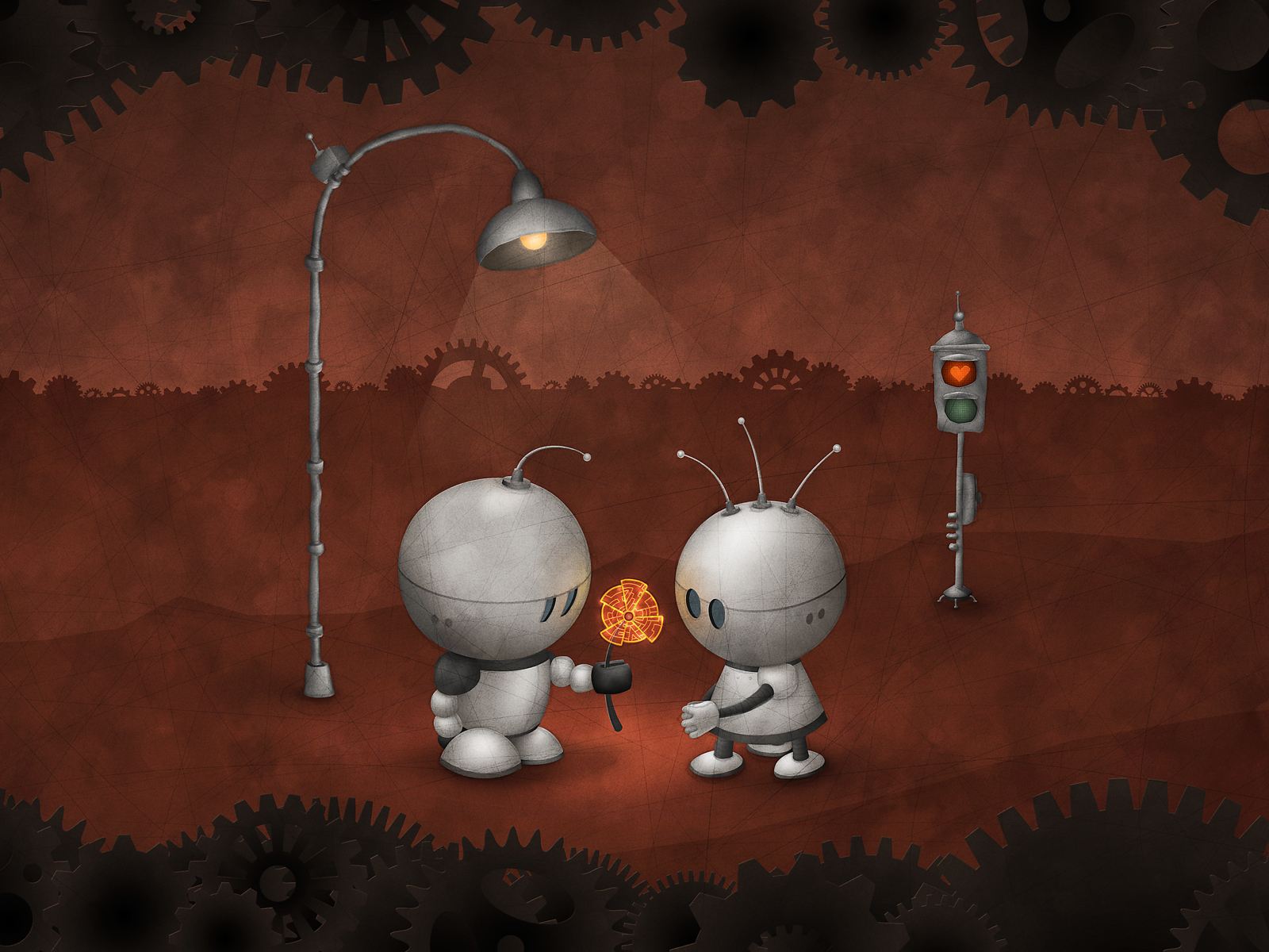 Robots in love by vladstudio