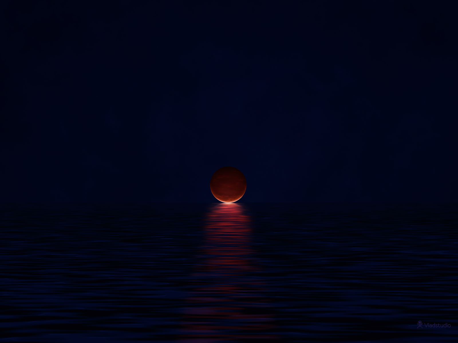 The Moon and The Ocean by vladstudio