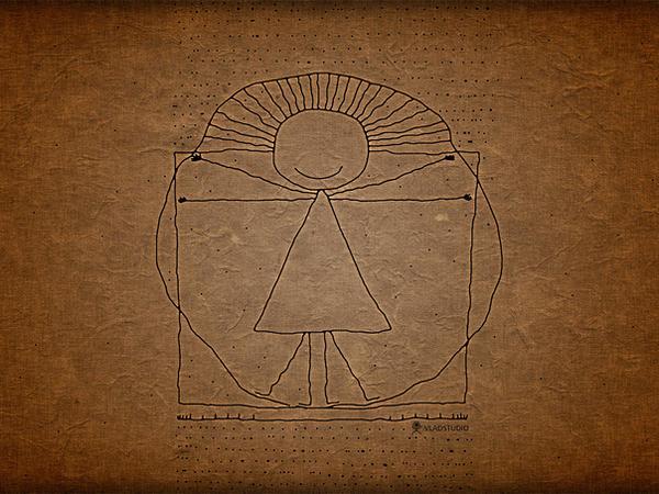Vitruvian Man by vladstudio