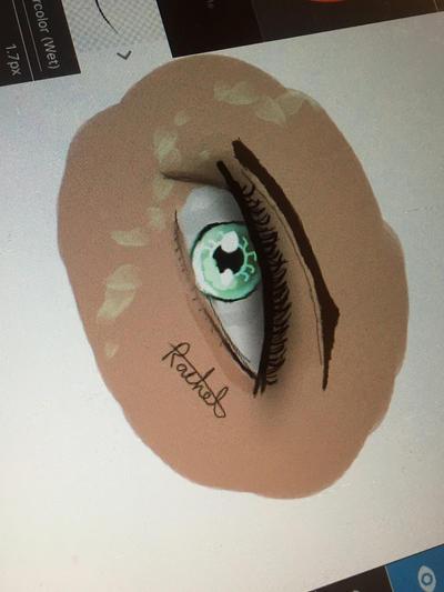 Green eye by claudiastanford