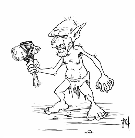 goblin tribesman by martianink