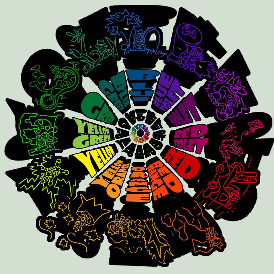 School Project Color Wheel By CaptnPenguin