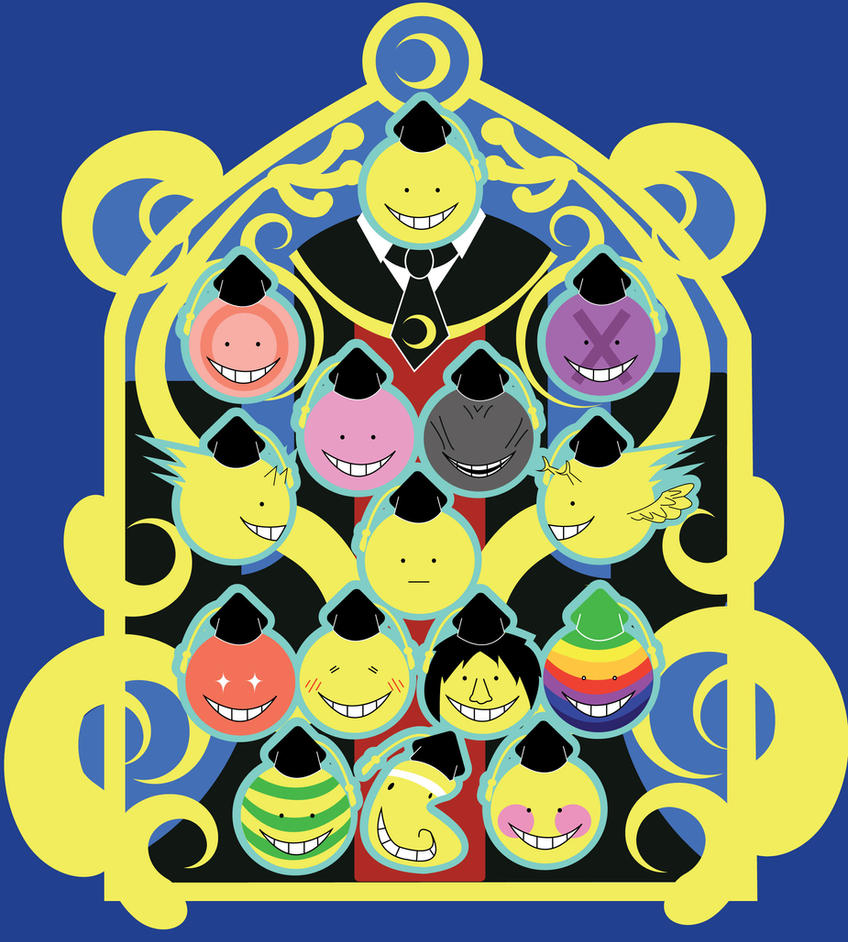 Assassination Classroom-The Faces of KoroSensei by CaptnPenguin