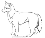 Free Siberian Husky Lineart: Female