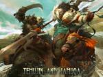 Temujin and Jamuqa.