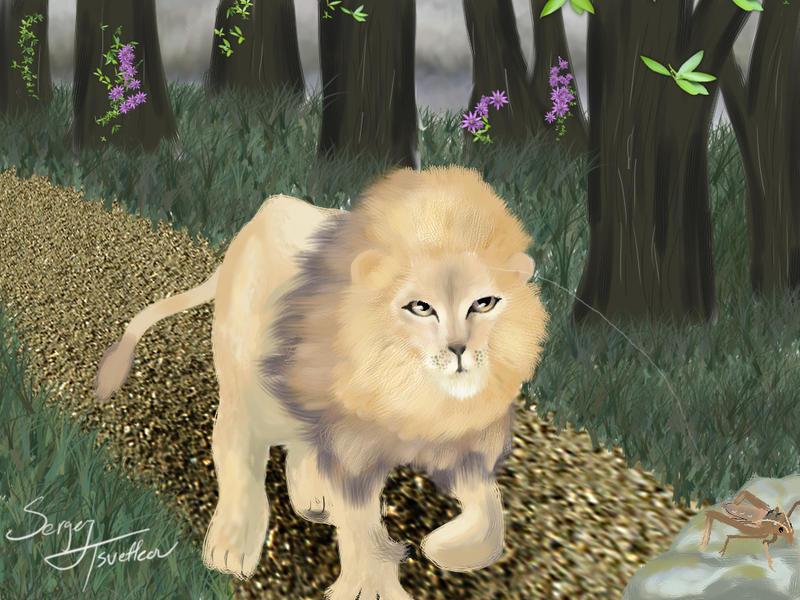 El leon y el grillo. by shadow500 on DeviantArt
