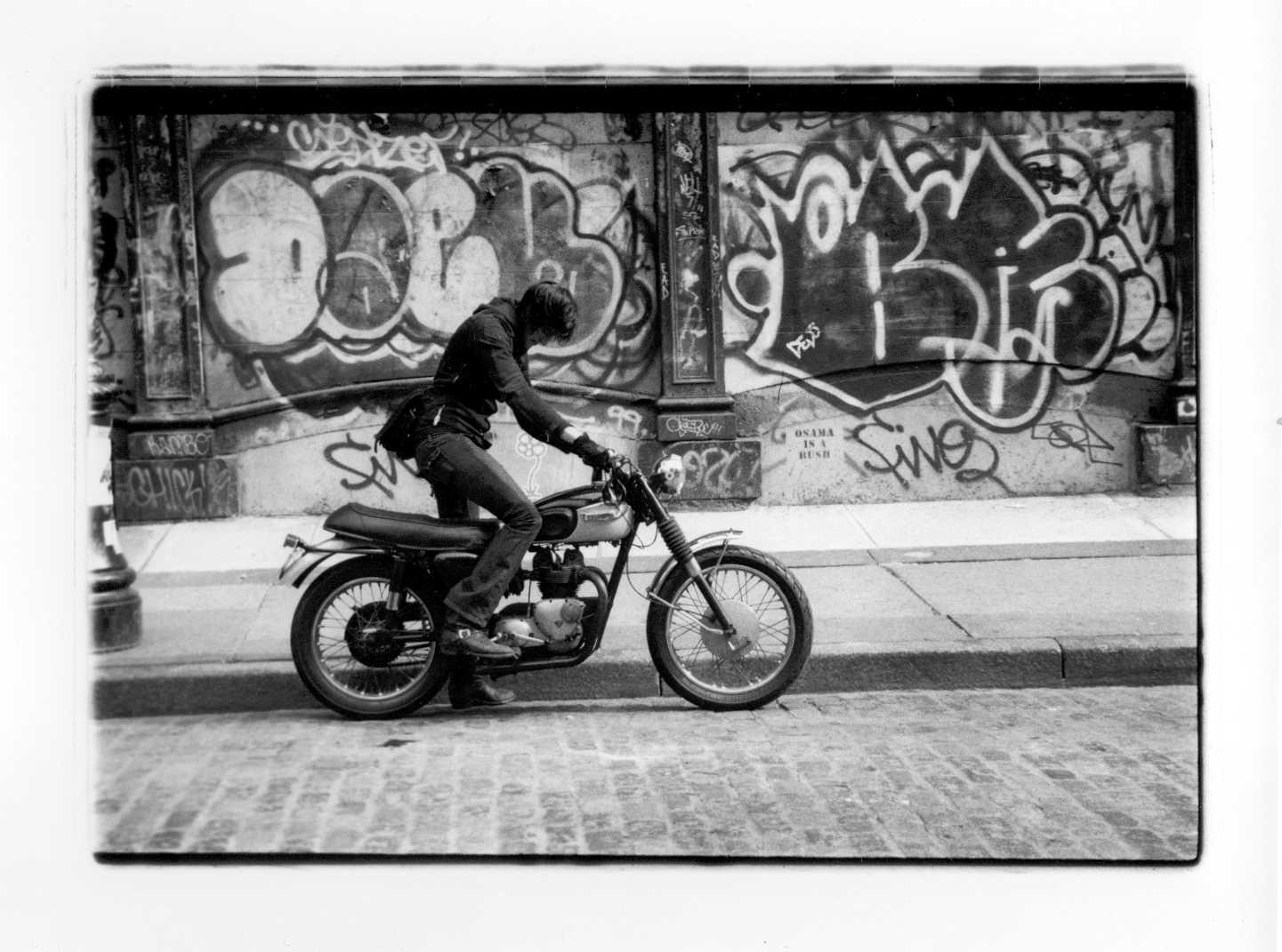 triumph motorcycle   NYC 2003