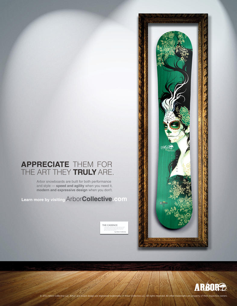 Snowboard Advertisement by JustMarDesign