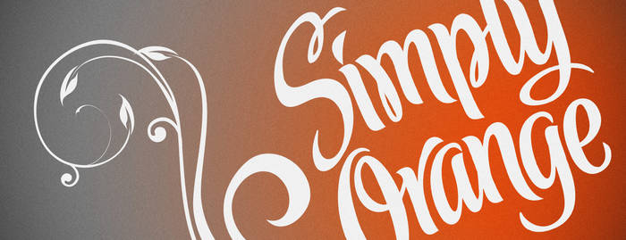 Simply Orange Billboard Design