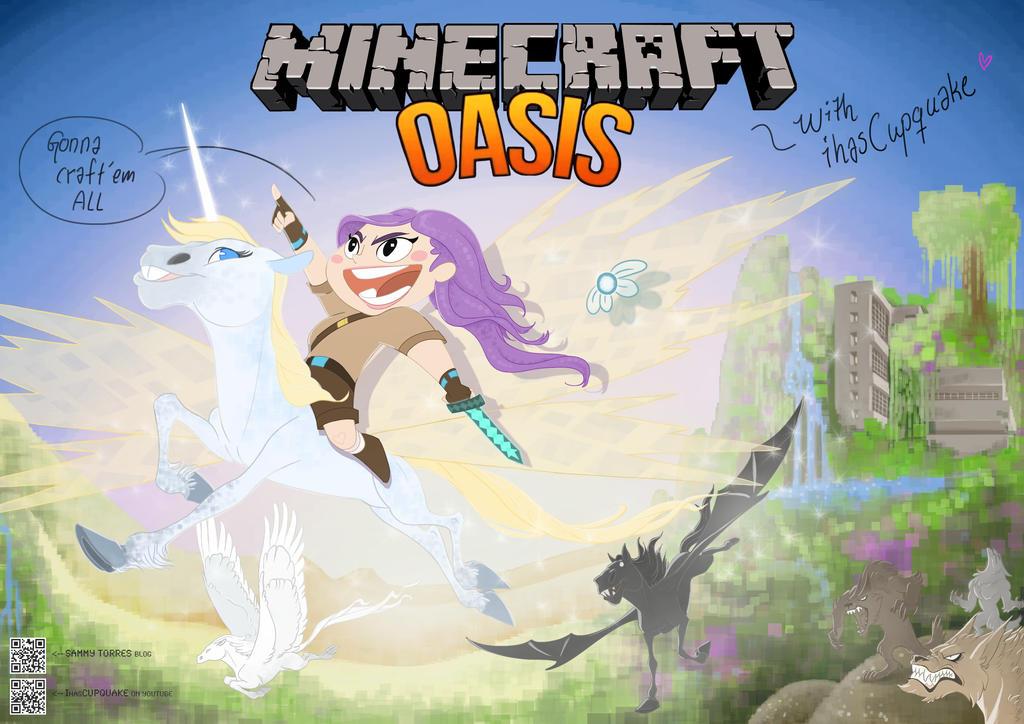 Minecraft oasis w ihascupquake by sammytorres on deviantart minecraft