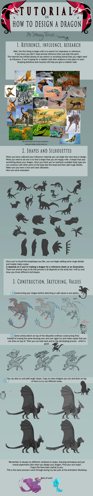 TUTORIAL: How to Design a Dragon by SammyTorres