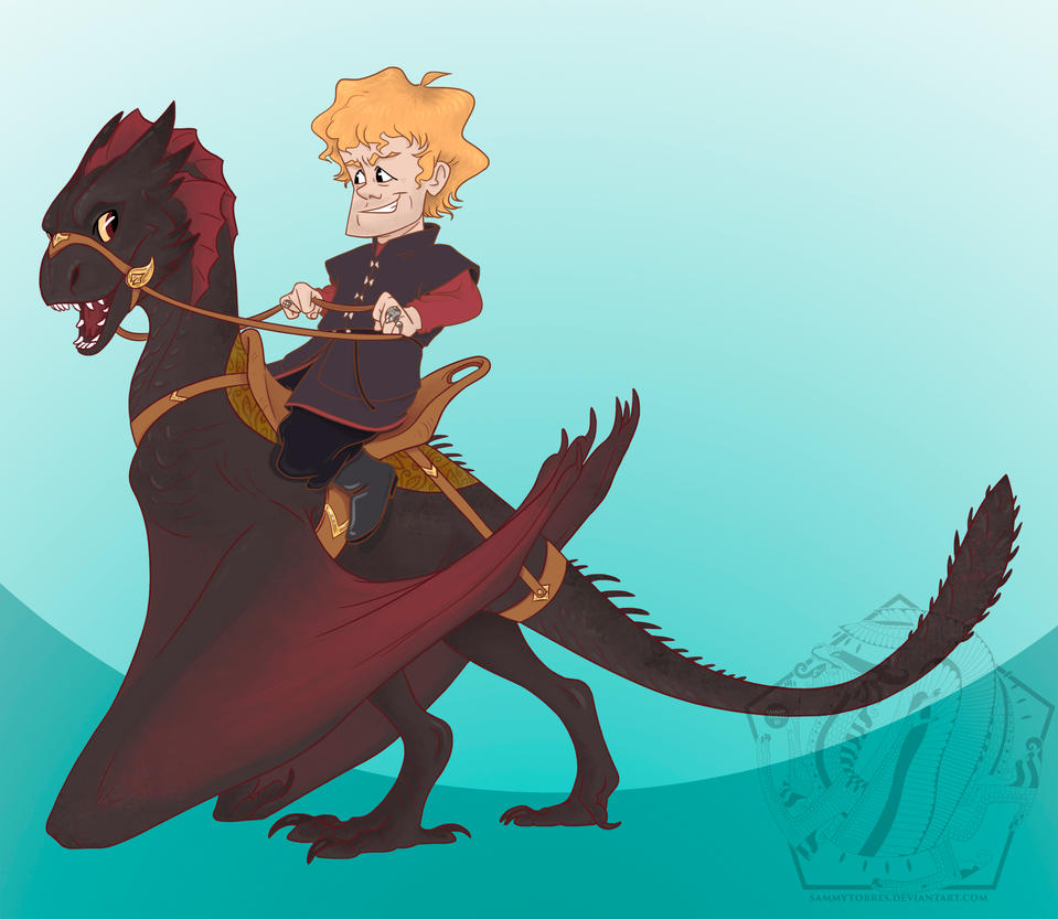 tyrion_and_drogon_by_sammytorres-d7804xc