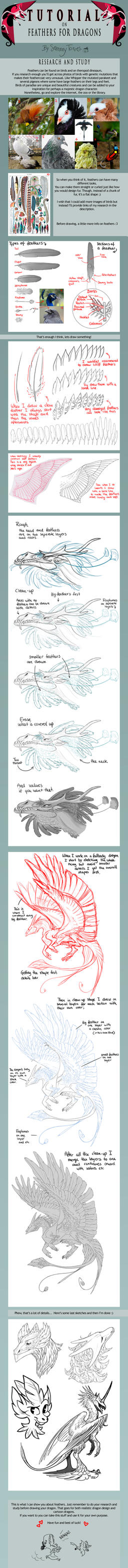 TUTORIAL: Feathers for Dragons by SammyTorres
