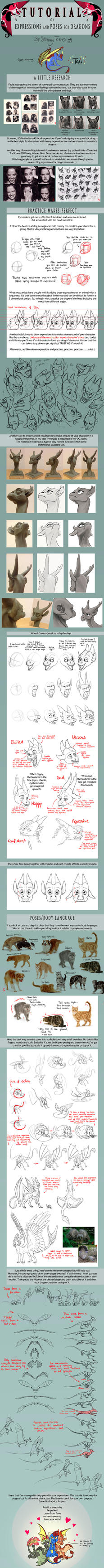 TUTORIAL: Expressions and Poses for Dragons by SammyTorres