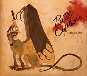 Bill Cipher Dragon by SammyTorres