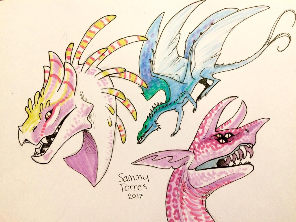Dragons from Lohikarmex by SammyTorres