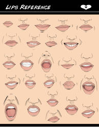 . Lips Reference. by Blue6