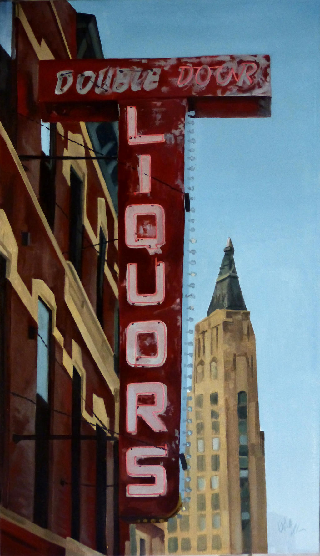 Double Door Chicago Sign By Lessthandressed On Deviantart