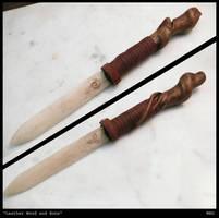 Leather wood and bone by Mikau-010