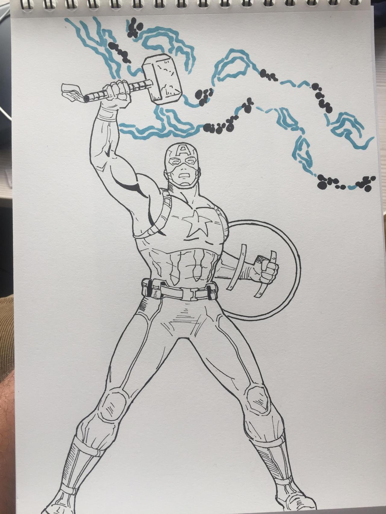 Captain America - mjolnir by julianomarold on DeviantArt