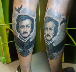 Allan Poe Tattoo