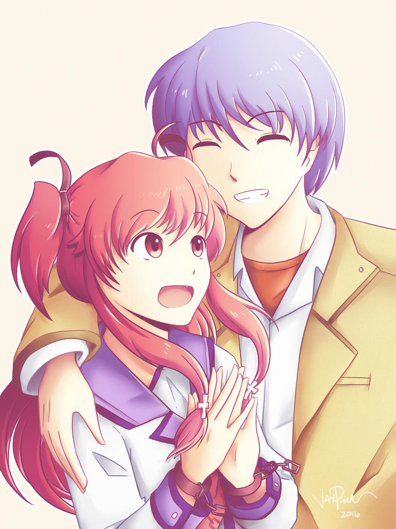 Yui And Hinata Angel Beats SPEEDPAINT // A...
