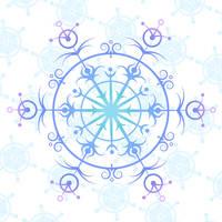 intricate snowflake - colour