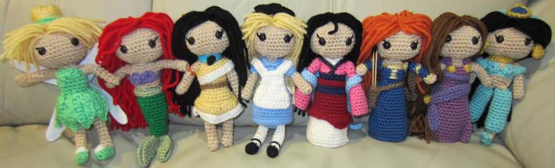 Disney Princess Handmade Amigurumi Set 1