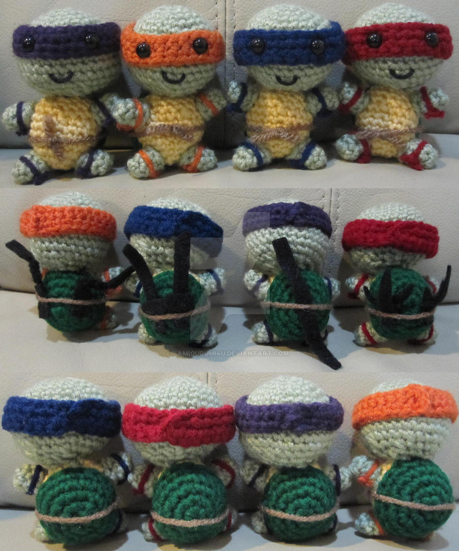 Teenage Mutant Ninja Turtles Handmade Amigurumi by ...