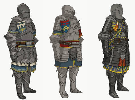 Fantasy French Knights by Taurus-ChaosLord