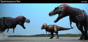 T-rex Showdown by MorTalWawmbaht