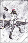 Sonya Blade- sketch by robot-god