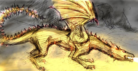 Dan the Dragon by robot-god