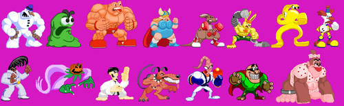 Clayfighter cps2 style by Dorkyguy