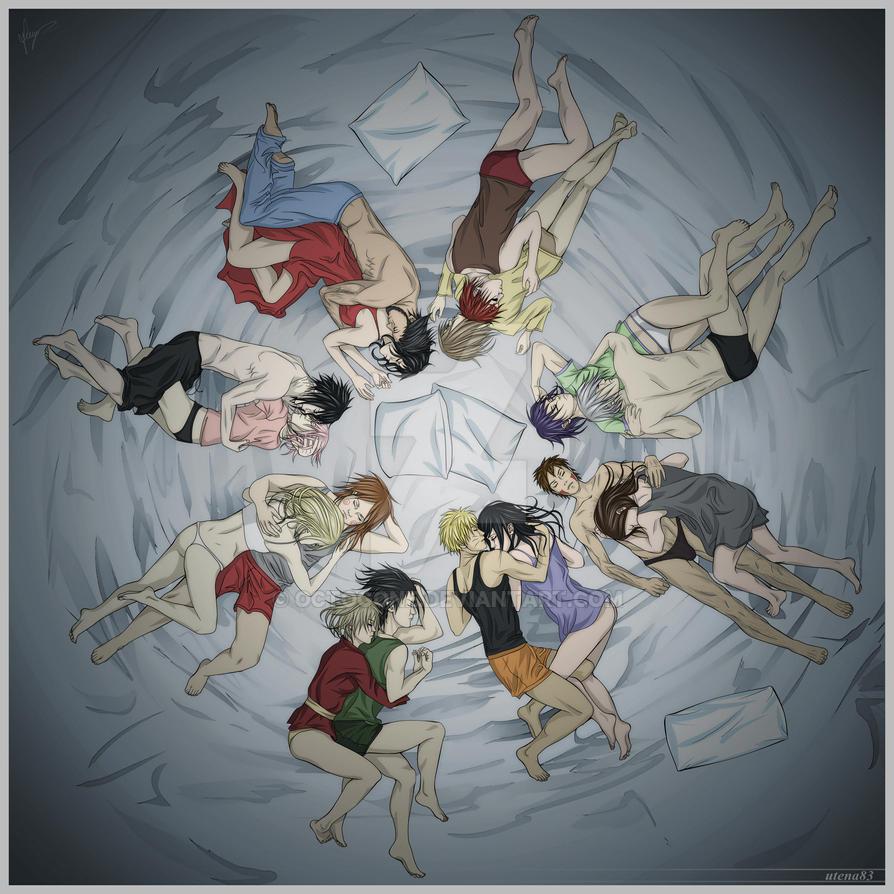Kiba and Hinata, Coloured by Momodesu on DeviantArt |Kiba And Hinata Kissing