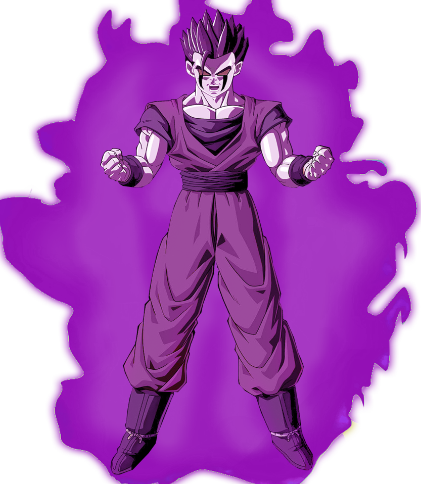 Joa Full Transformation Png: Ultimate Gohan Villainous Mode XV By SonGohanBrief On