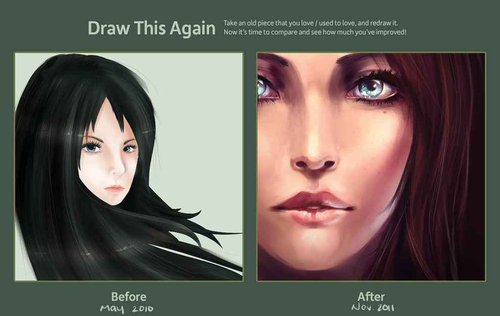 2010-2011 Draw Again Meme -- realism ver. by Aureta