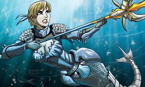 Mermaid Sharkfighter by self-replica