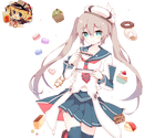 Anime Grey Girl 2 Render By YounBel2000