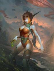 Blood elf character by Ksandork