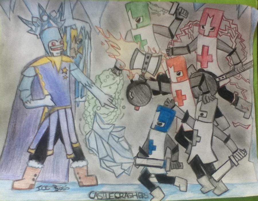 Ice boss vs castle crashers by catsup98 on deviantart - Castle crashers anime ...