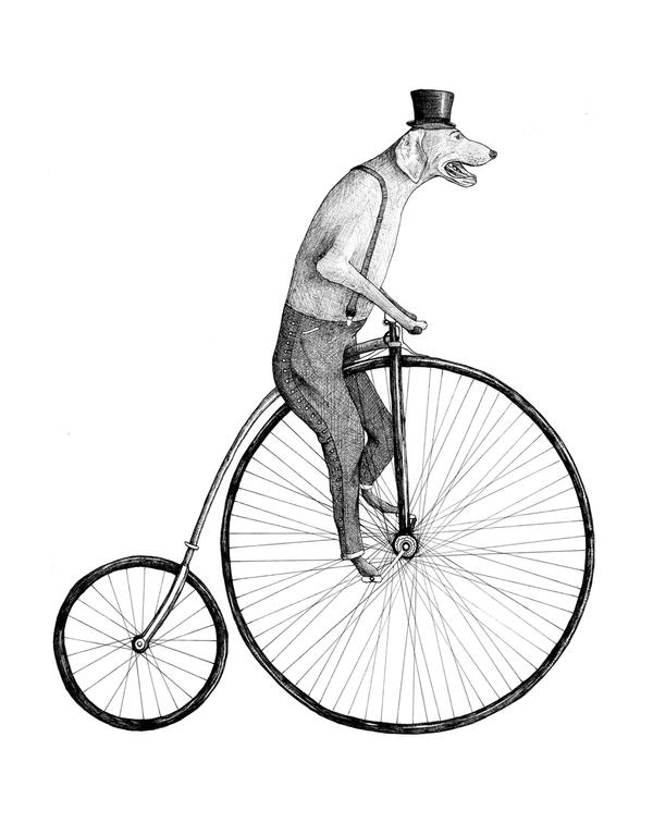 Penny Farthing Tattoo Design